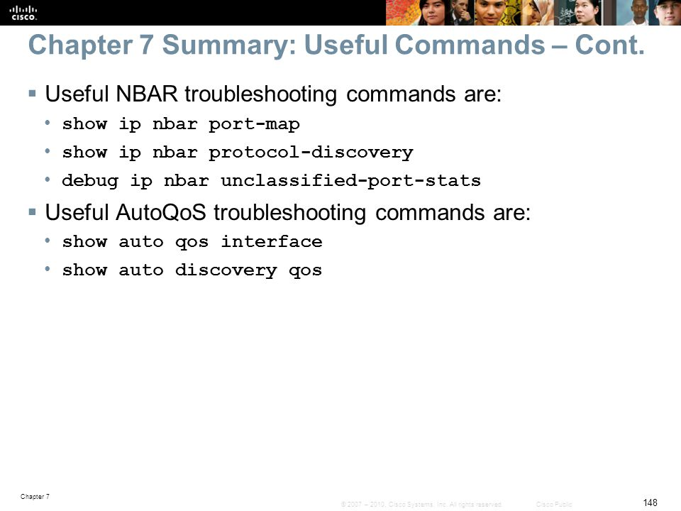 Chapter 7 Summary: Useful Commands – Cont.