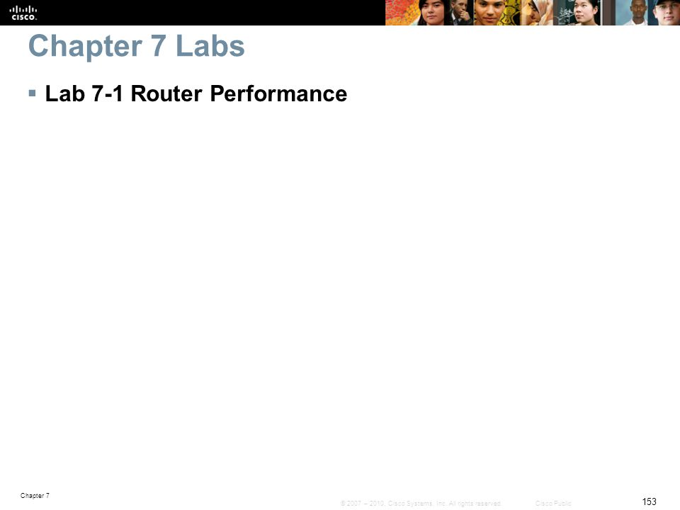 Chapter 7 Labs Lab 7-1 Router Performance
