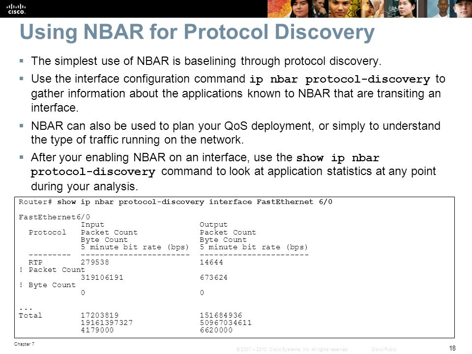 Using NBAR for Protocol Discovery