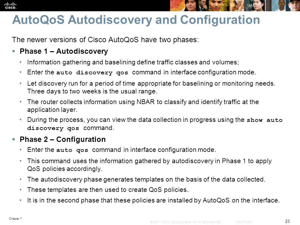 AutoQoS Autodiscovery and Configuration