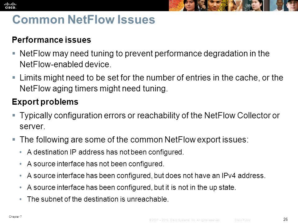 Common NetFlow Issues Performance issues