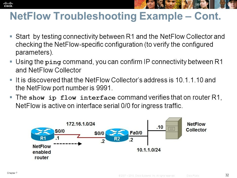 NetFlow Troubleshooting Example – Cont.