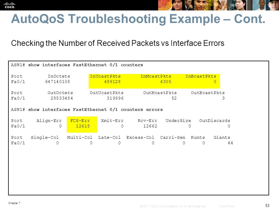 AutoQoS Troubleshooting Example – Cont.