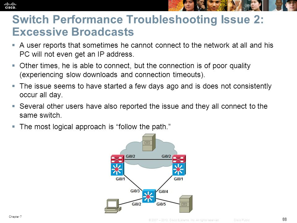 Switch Performance Troubleshooting Issue 2: Excessive Broadcasts
