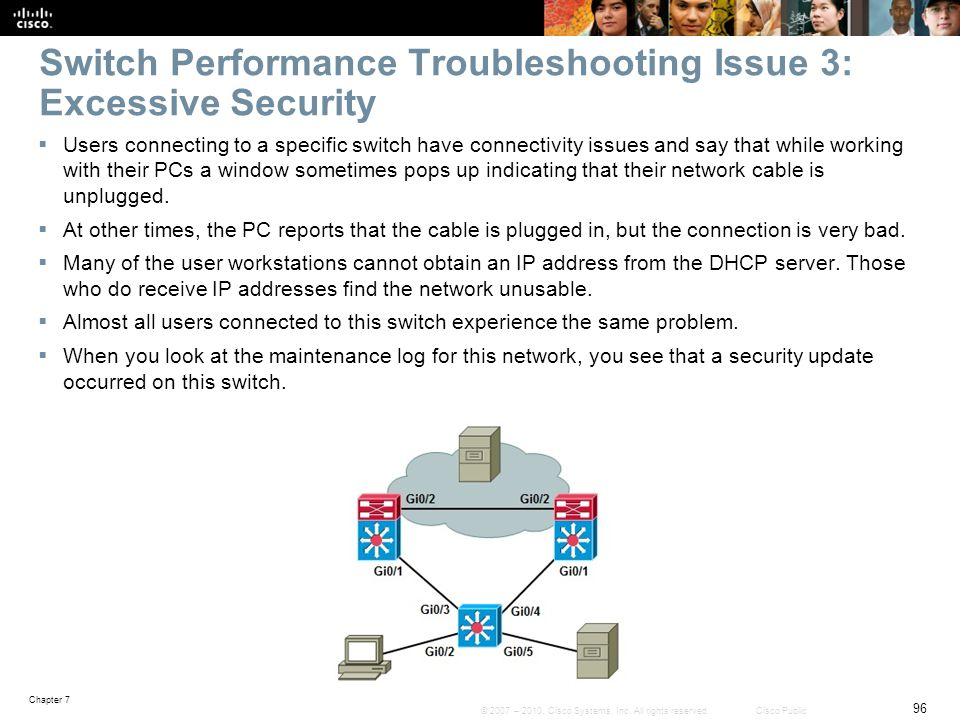 Switch Performance Troubleshooting Issue 3: Excessive Security