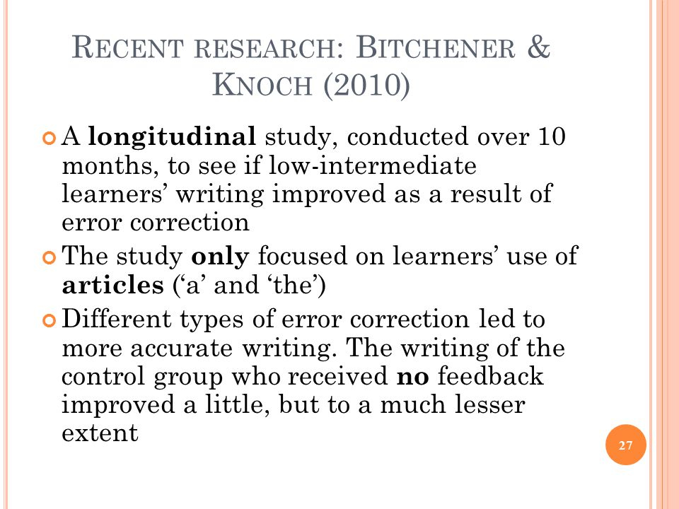 Corrective Feedback in Second Language Acquisition