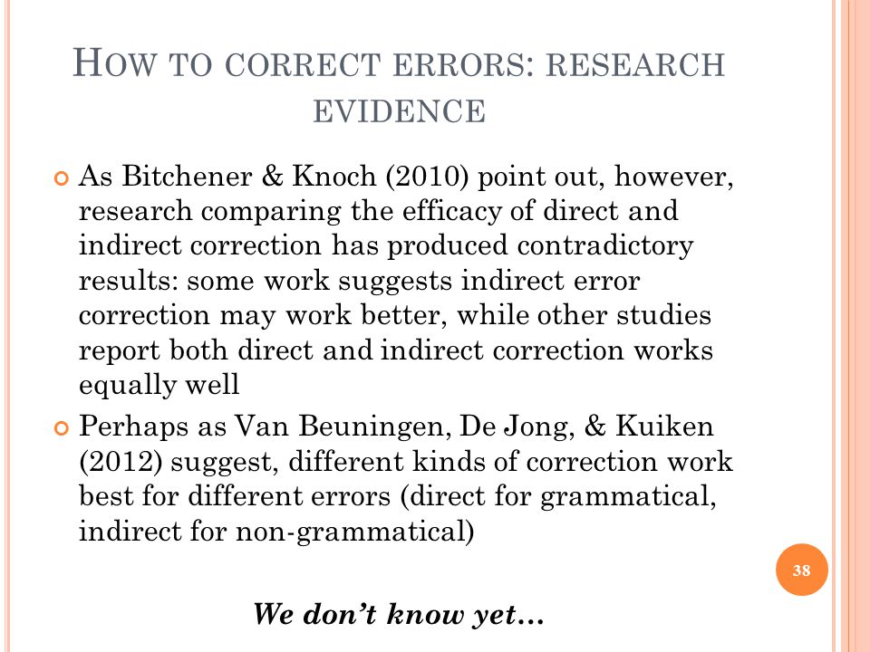 Correcting Errors in Student Writing - ppt download