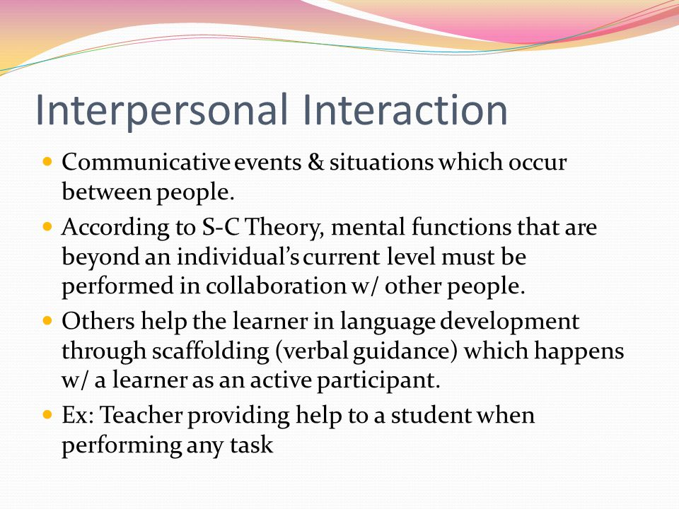 Interpersonal Interaction
