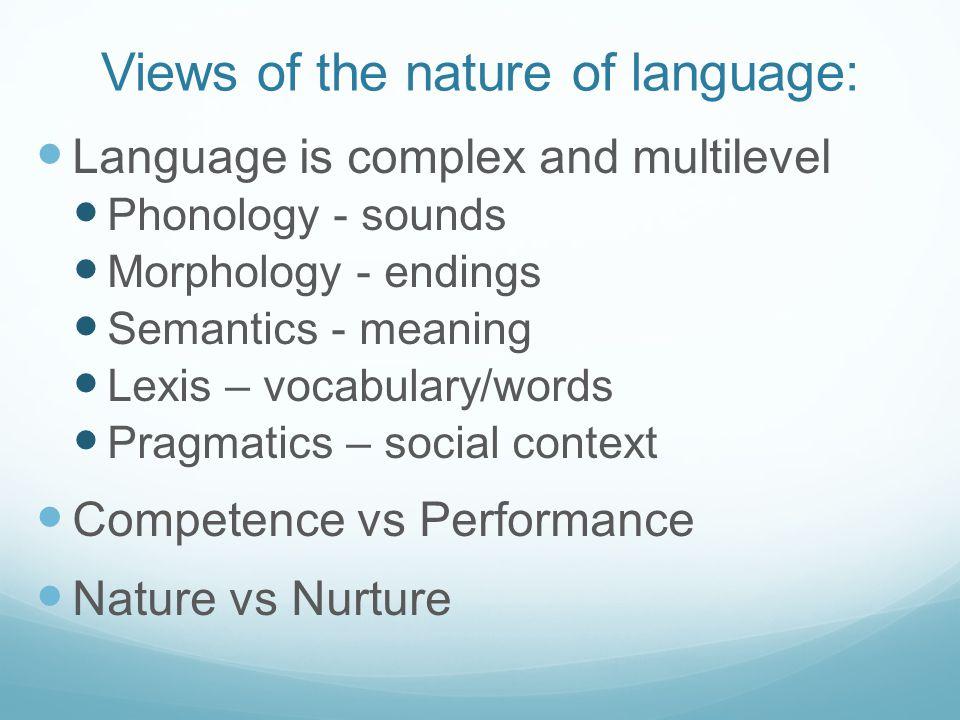 language acquisition nature or nurture essay
