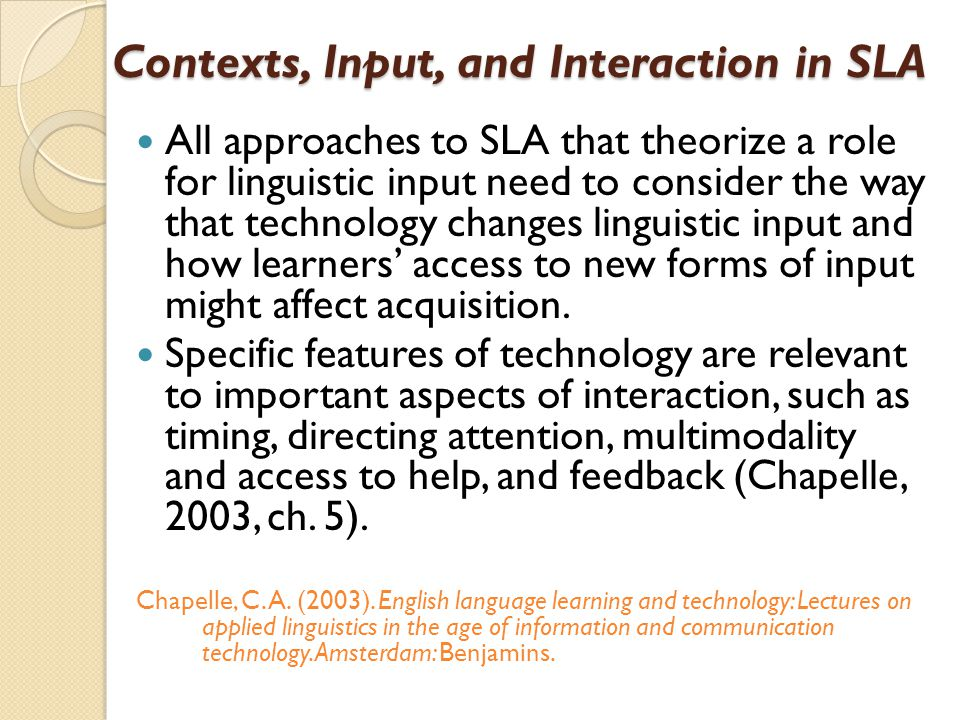 an analysis of the affect of age on second language acquisition Research on second language learning suggests that age or age-related factors are a major variable in the acquisition of a second language for school in the early stages of acquisition, older students are faster and more efficient learners, with the advantage of more advanced cognitive development .