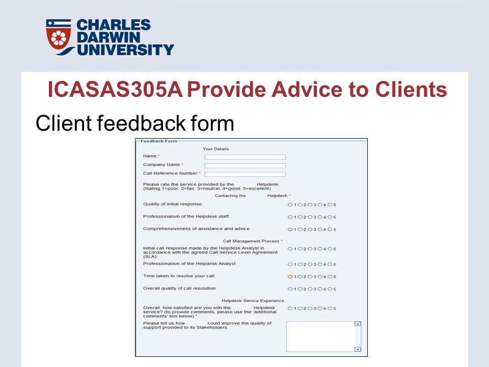 Icasas305A Provide Advice To Clients - Ppt Download