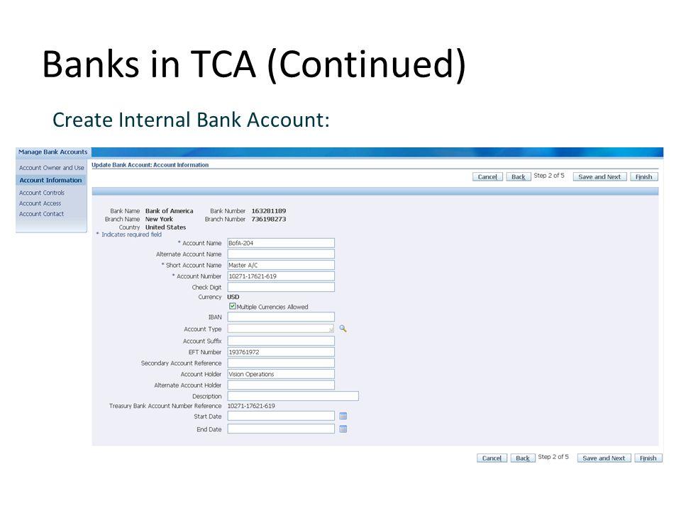 how to create new bank account in myob