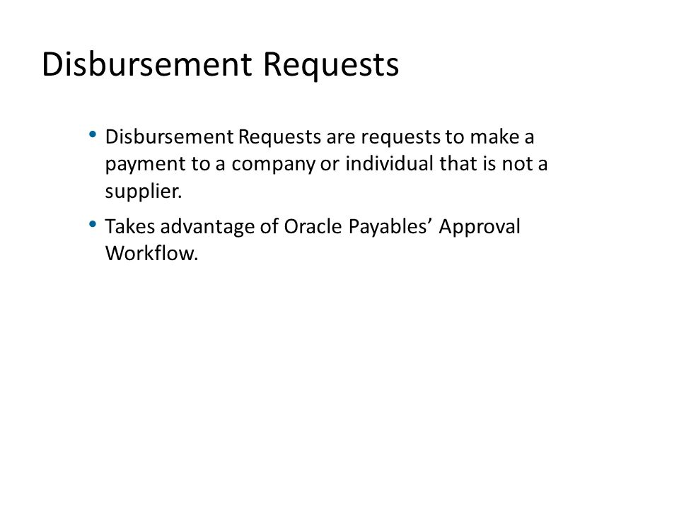 Disbursement Requests
