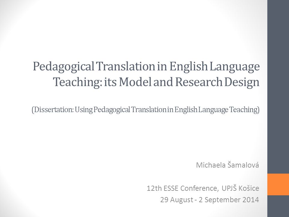 Dissertation in Language Science - The University of
