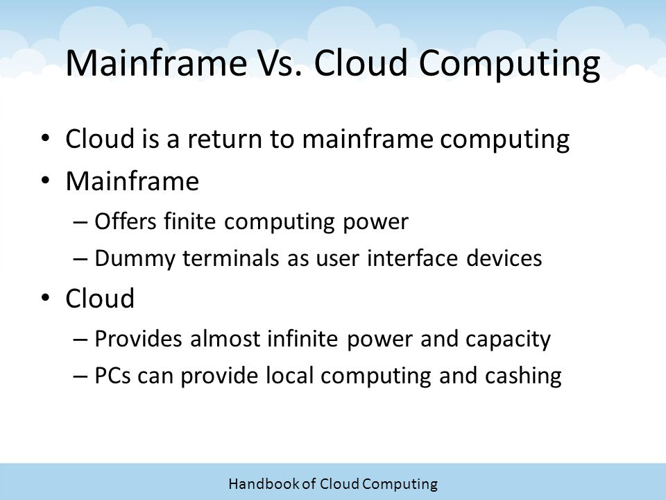 pc vs mainframe Mainframes—the refrigerator-sized, pre-pc computers beloved of government, corporations, and tron—were long synonymous with ibm, which introduced its first mainframe in 1952 the company has.