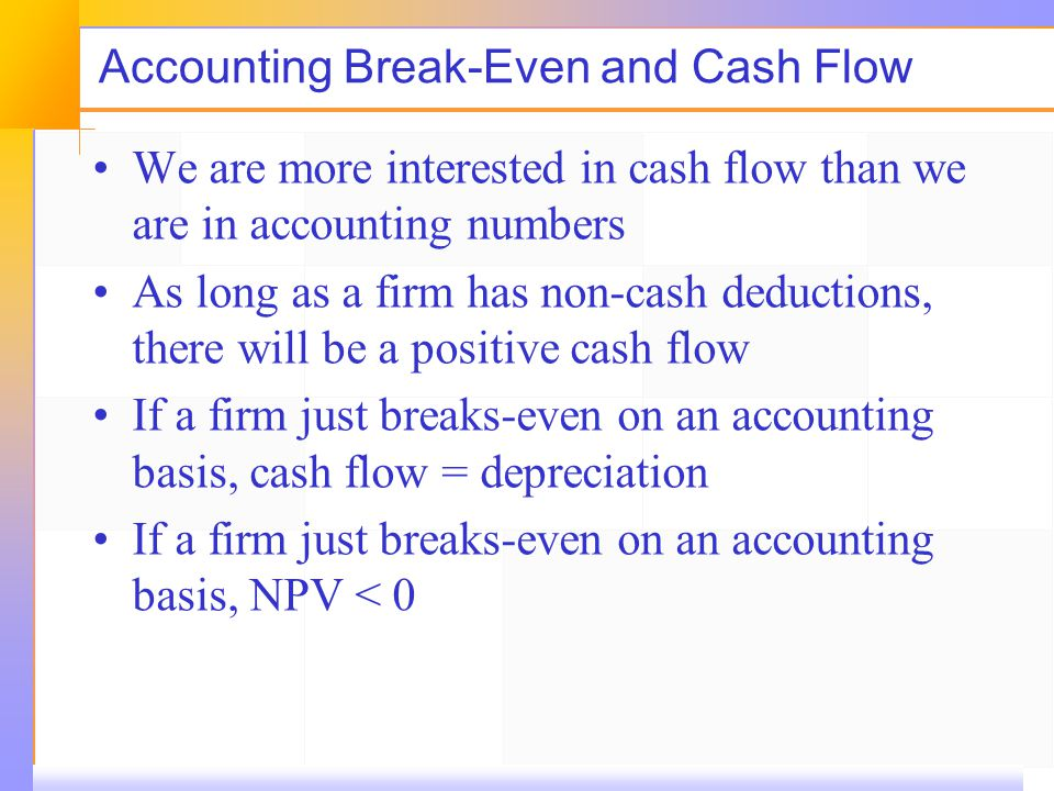cash break even point pdf