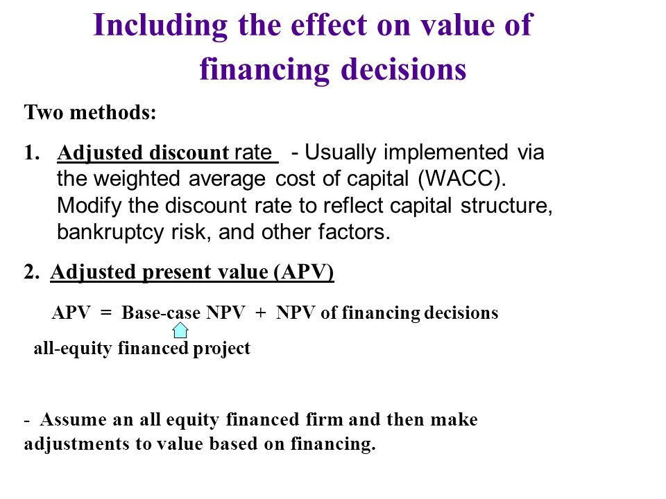 Including the effect on value of
