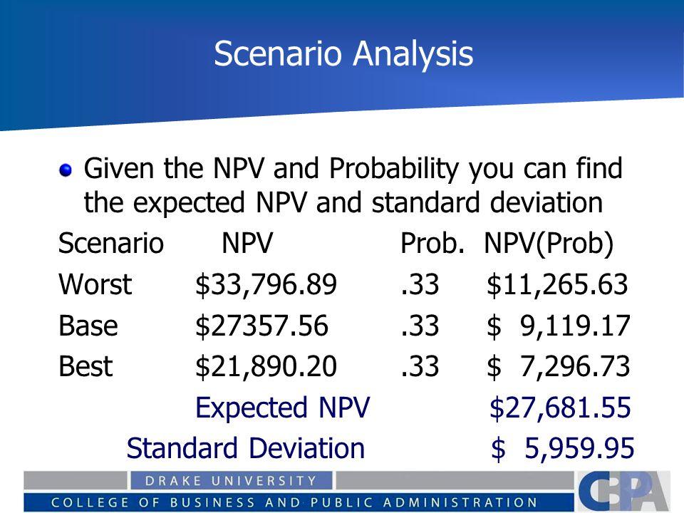 scenario analysis and sensitivity analysis pdf