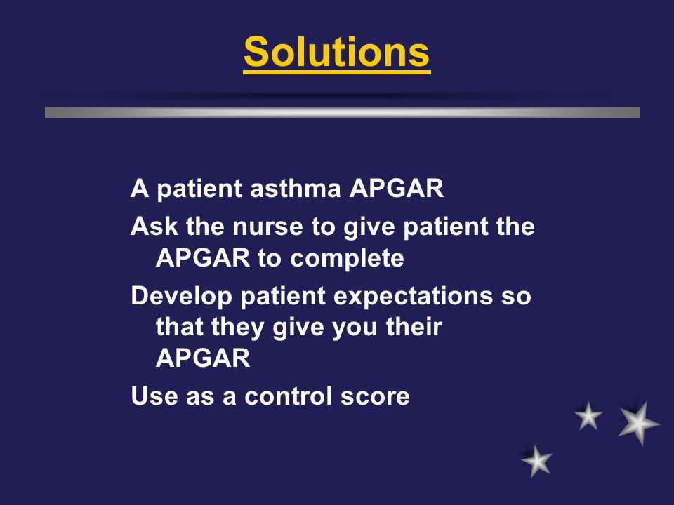 Solutions A patient asthma APGAR