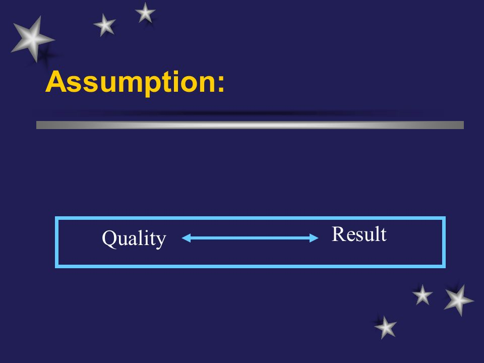 Assumption: Quality Result