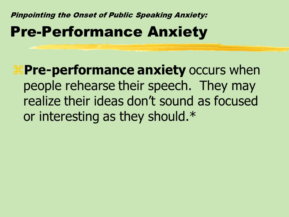 an outline of performance anxiety in Shyness, performance anxiety, & stage fright: this workshop will equip you to counsel those whose lives are gripped by fears of inadequacy and exposure.