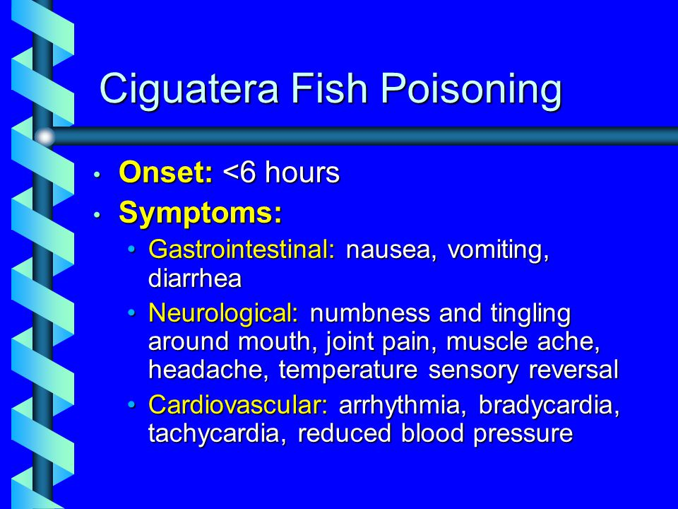 Seafood safety and natural marine toxins ppt video for Ciguatera fish poisoning