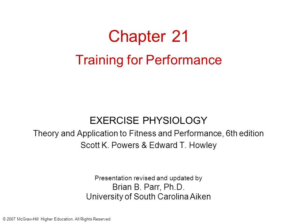 Chapter Training For Performance on University Of South Carolina Aiken Transcript
