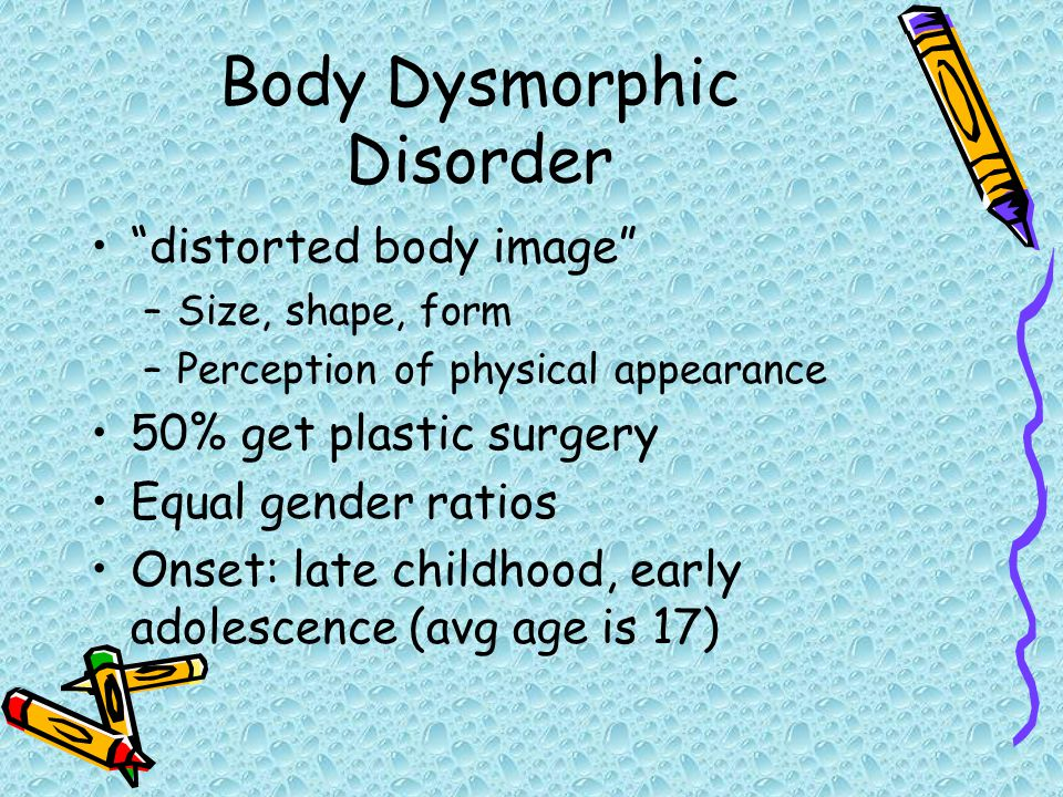 how to get rid of body dysmorphic disorder