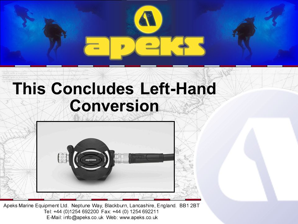 This Concludes Left-Hand Conversion