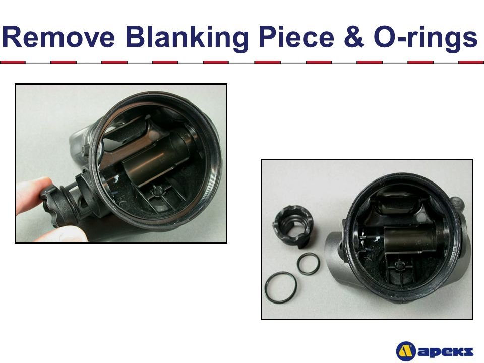 Remove Blanking Piece & O-rings