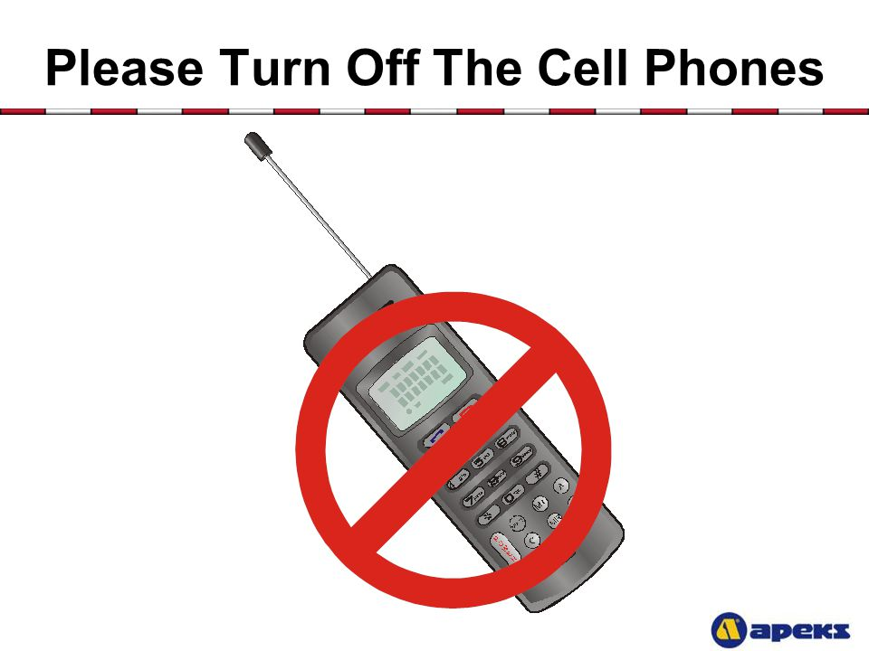 Please Turn Off The Cell Phones