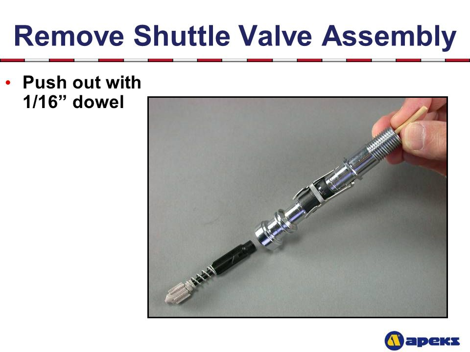 Remove Shuttle Valve Assembly