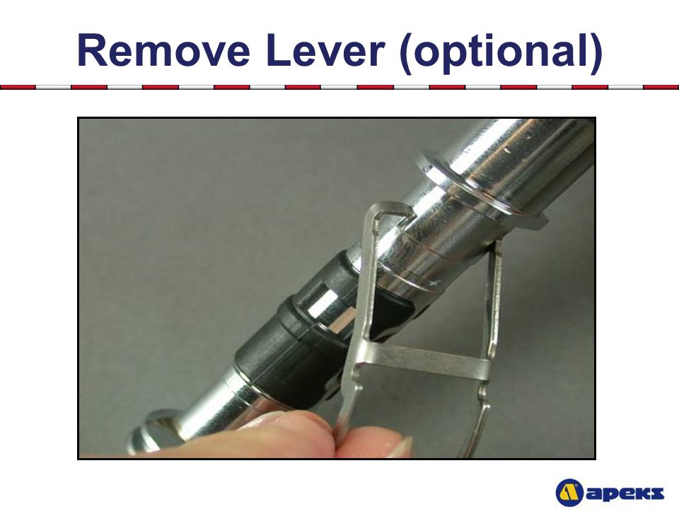 Remove Lever (optional)