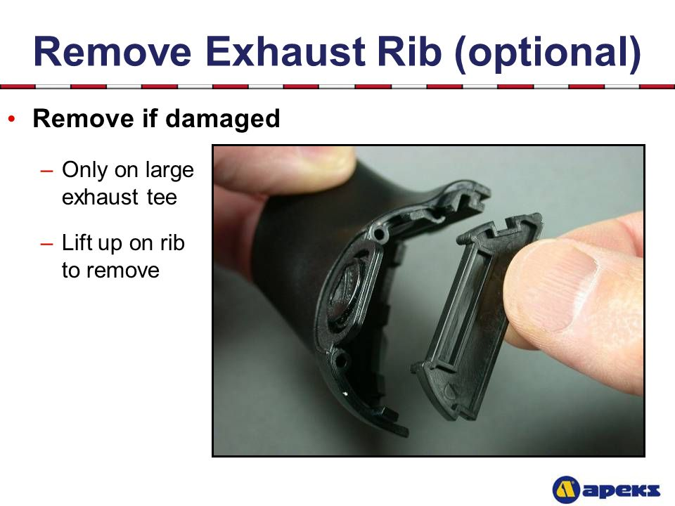 Remove Exhaust Rib (optional)