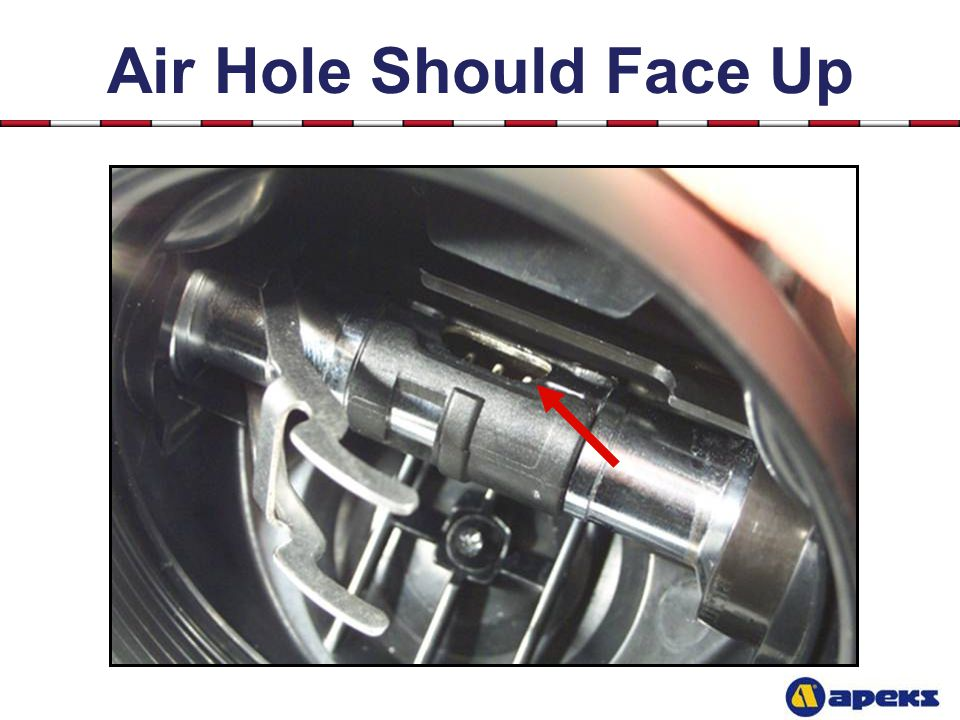 Air Hole Should Face Up