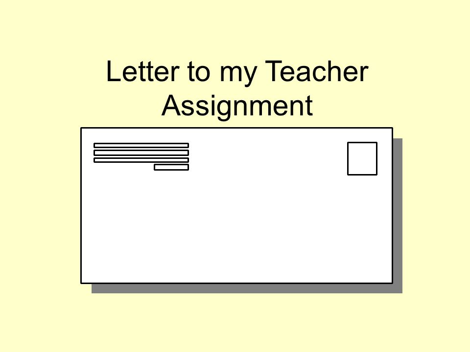 Letter Writing Creative Writing Assignment  Ppt Video Online