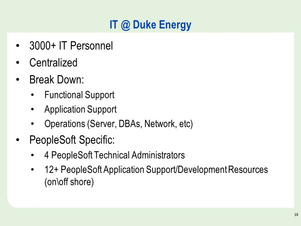 10 it peoplesoft technical