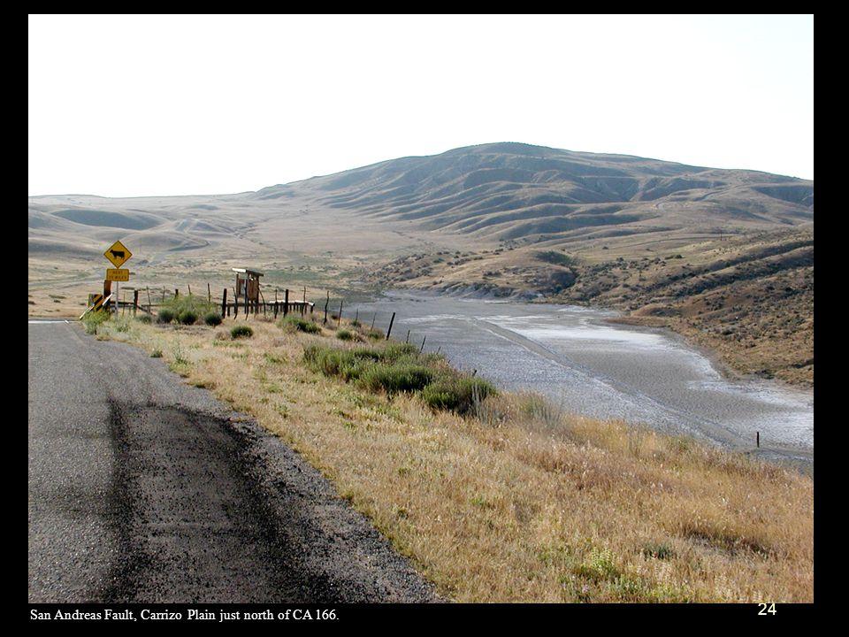 San Andreas Fault, Carrizo Plain just north of CA 166.