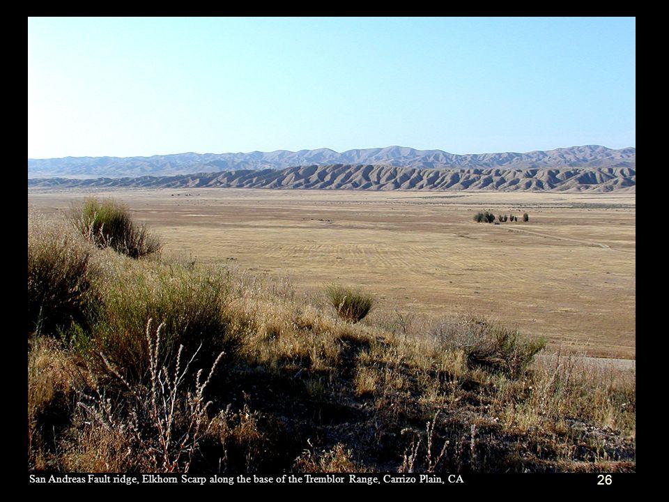 San Andreas Fault ridge, Elkhorn Scarp along the base of the Tremblor Range, Carrizo Plain, CA