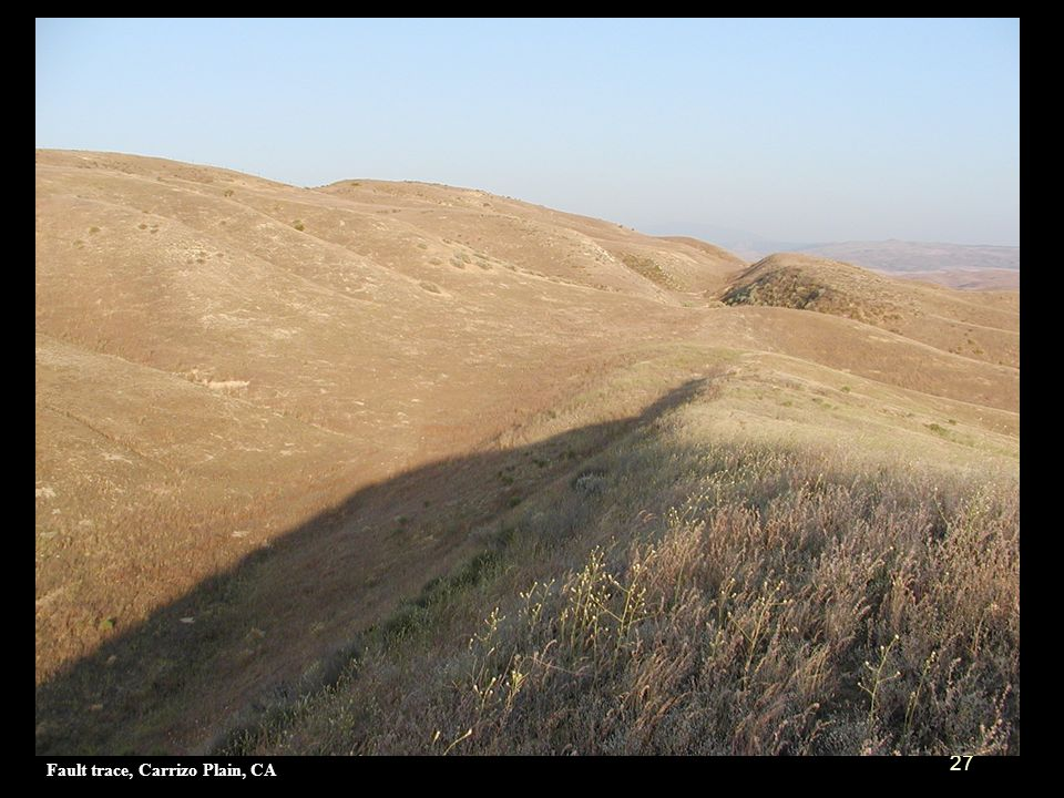 Fault trace, Carrizo Plain, CA