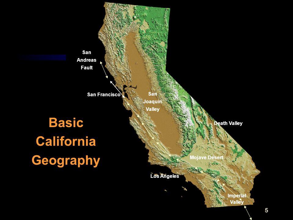 Basic California Geography