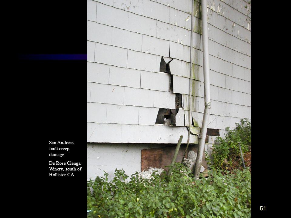 San Andreas fault creep damage