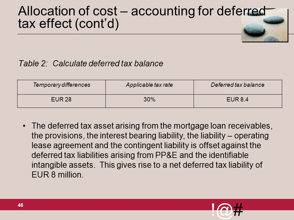 Topic 8 deferred tax