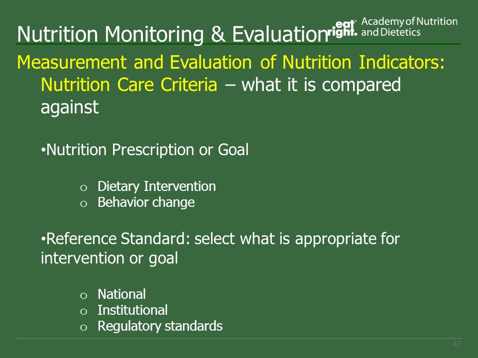 evaluating nutrition information on the internet Quality health information on the web: a tool kittips for finding accurate   position of the american dietetic association: food and nutrition misinformation.