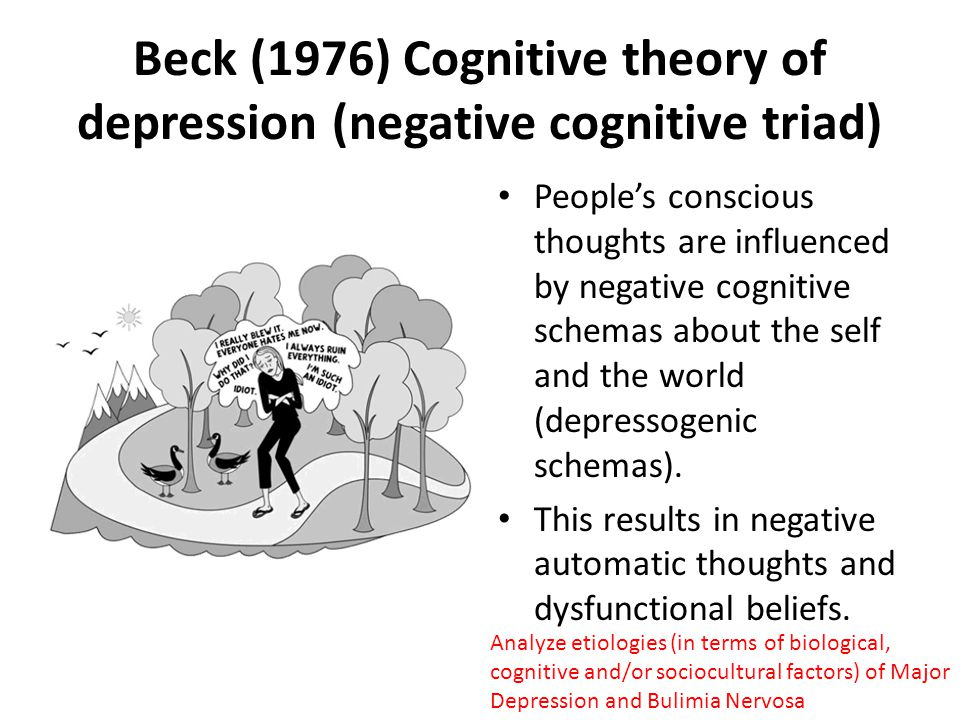 Becks cognitive theory of depression essay