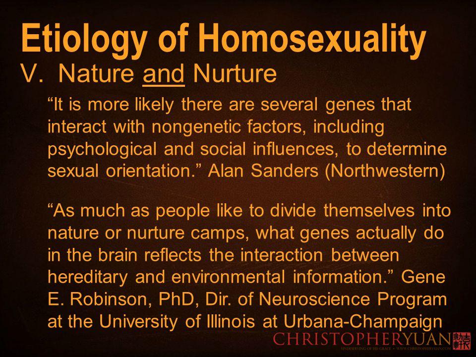 understanding nature and nurture in homosexuality