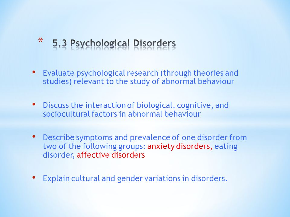 psychological disorders 2 essay The psychological disorders essay writing service, custom the psychological disorders papers, term papers, free the psychological disorders.