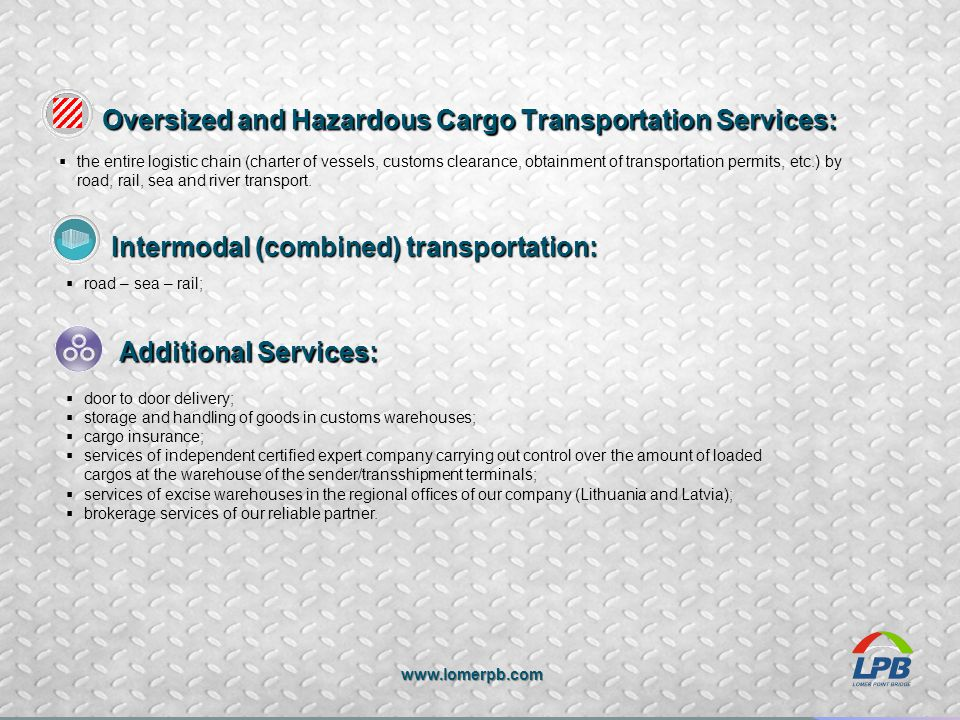 Oversized and Hazardous Cargo Transportation Services: