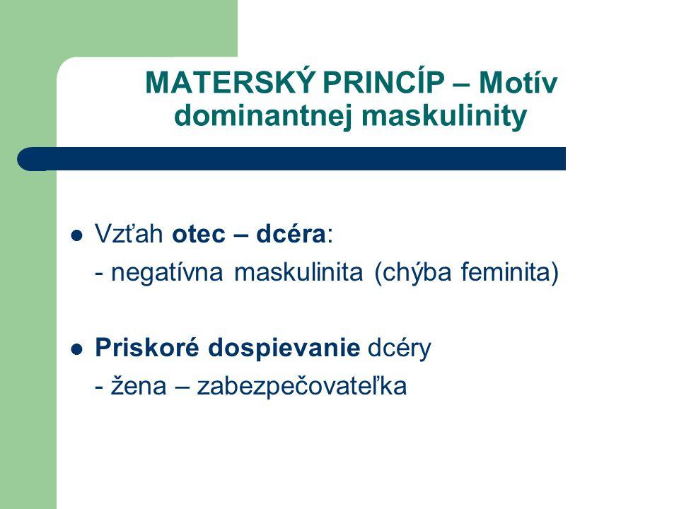 MATERSKÝ PRINCÍP – Motív dominantnej maskulinity