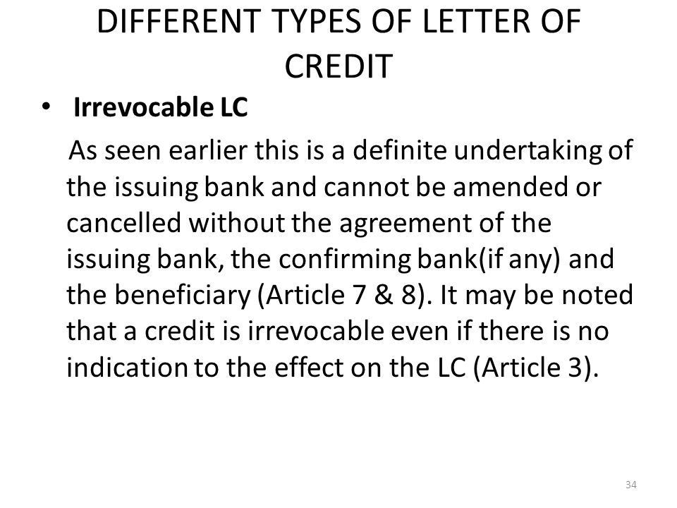 different types of letters of credit Different types of business letters are, sales lettersrequest lettersgoodwill lettersacknowledgement letterscredit and collection lettersinquiry.